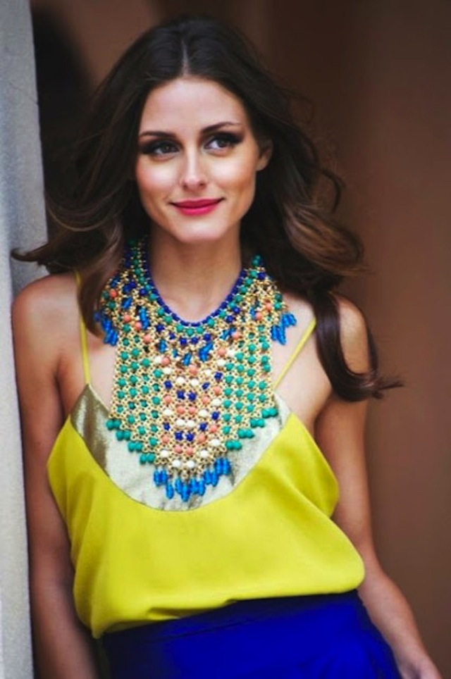 jewelry-statement-necklace-gold-blue-green-Olivia-Palermo-street-style-025