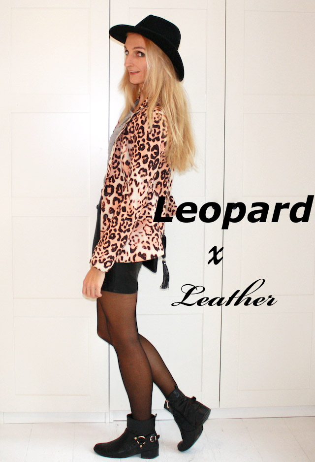 leopard x leather