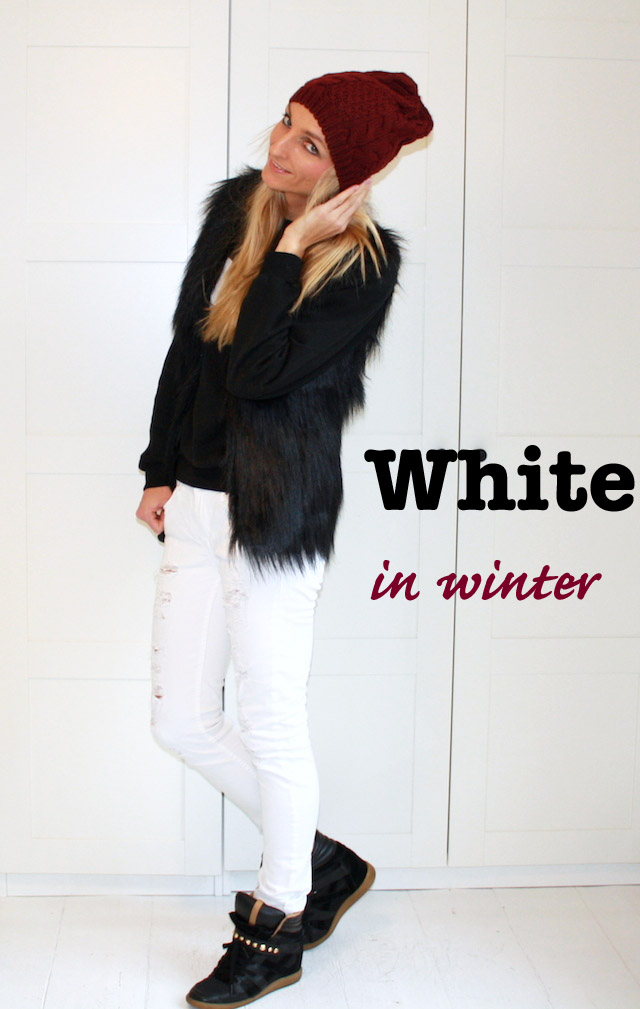 white in winter