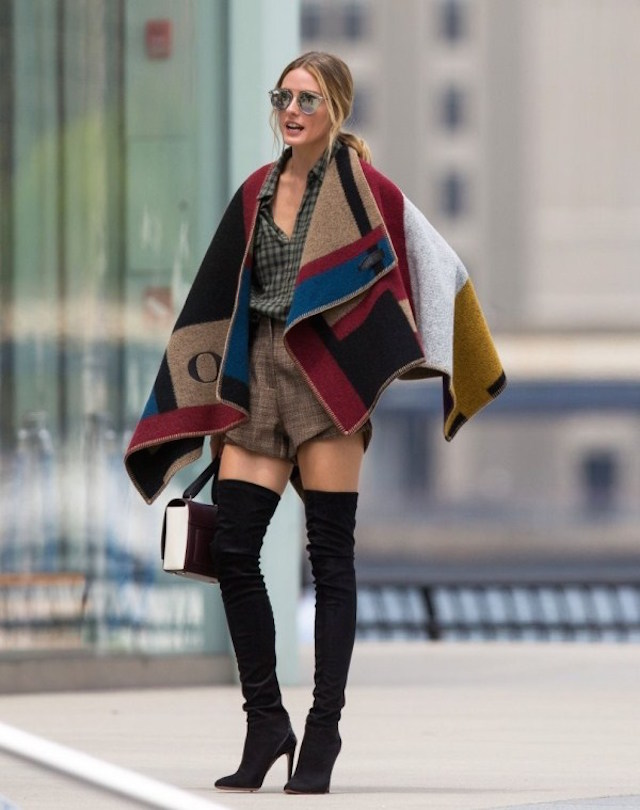 la-modella-mafia-Olivia-Parlemo-street-style-2014-in-a-Burberry-custom-monogrammed-cape-blanket-with-thigh-high-boots-2