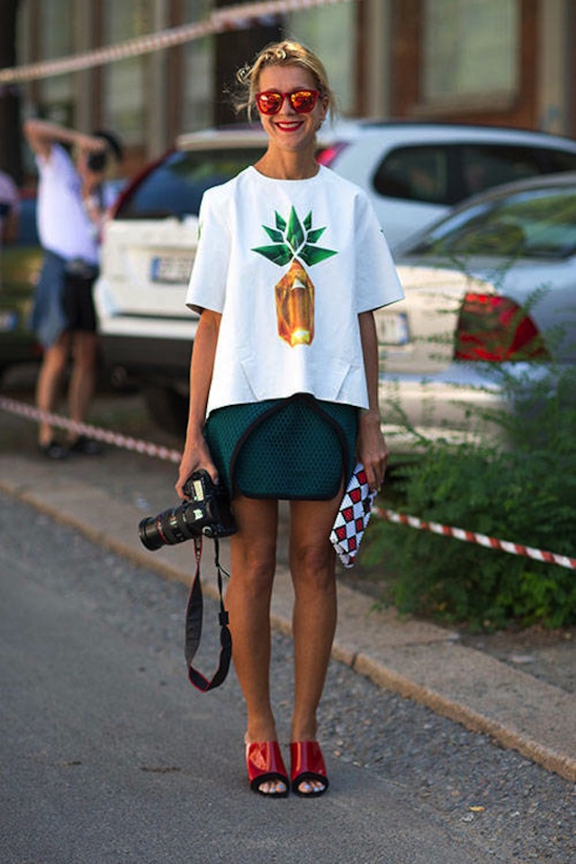4 Pineapple Print Street Style Looks We Love Natalie Joos 1