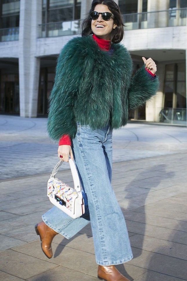man-repeller-denim-culottes-street-style-nyfw